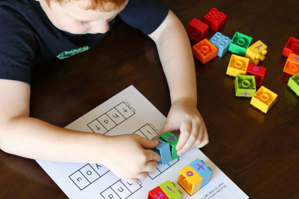 Hands-on sight words activity