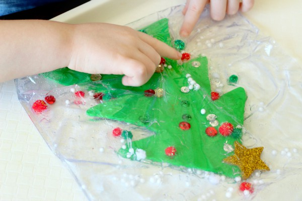 Christmas tree fine motor activity for preschool