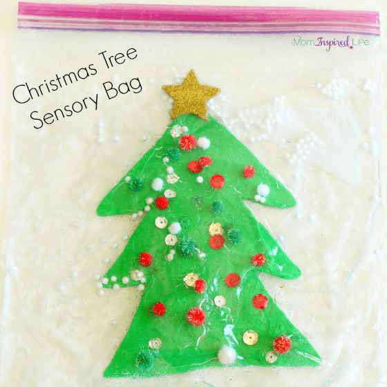 Christmas sensory activity for preschoolers and toddlers.