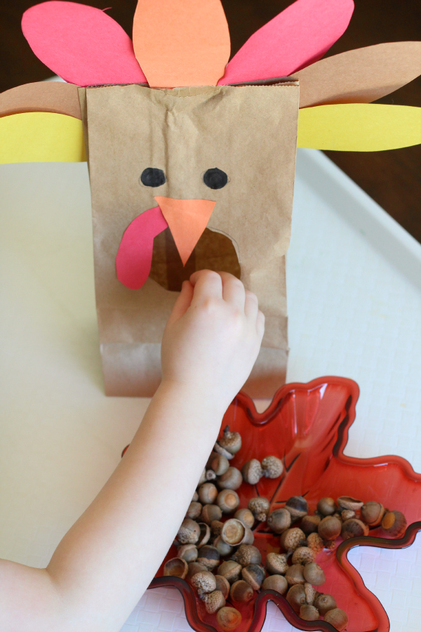 Practice counting and one to one correspondence with this turkey activity.