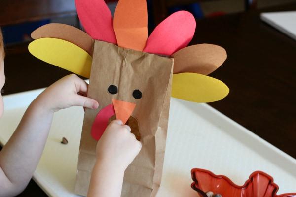 Turkey math game for kids