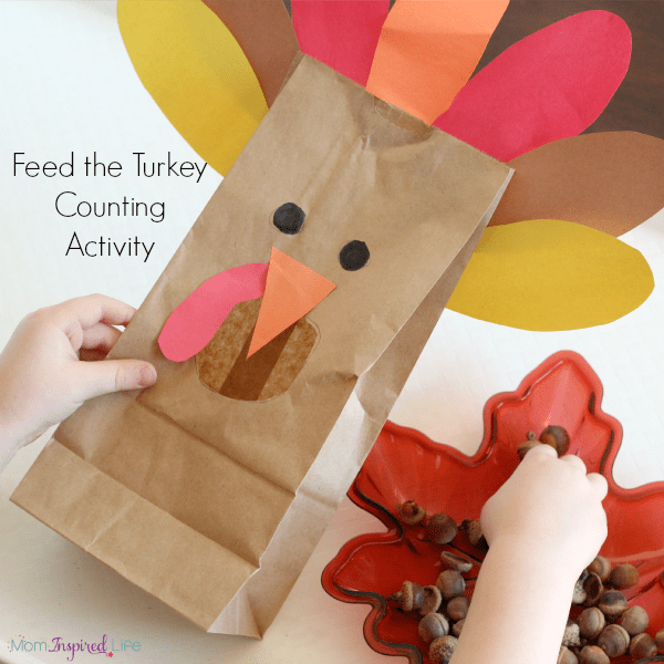 Thanksgiving turkey counting game for preschool