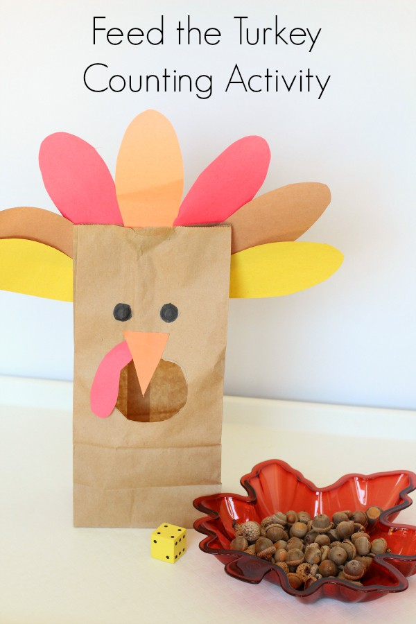 A super fun Thanksgiving turkey counting activity! This hands-on math activity is perfect for your Thanksgiving lesson plans.