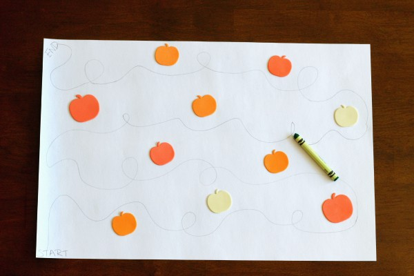 A really fun pumpkin tracing activity for fall.