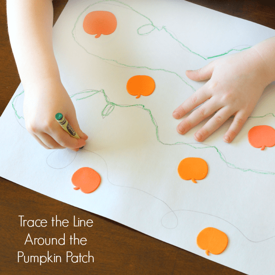 Pumpkin line tracing activity.