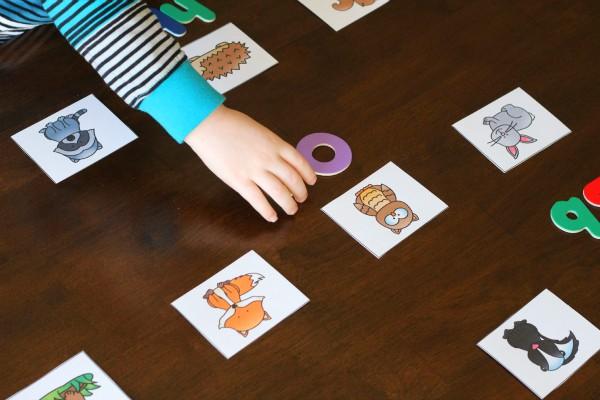 Forest animals alphabet activity for preschool, pre-k and kindergarten.