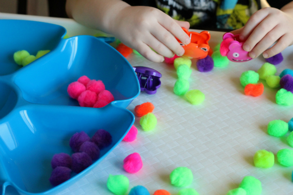 Develop fine motor skills with this fun monster activity for Halloween.
