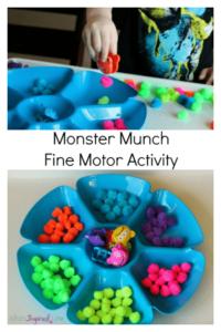 Monster Munch Fine Motor Activity