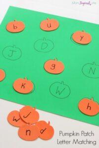 Pumpkin Patch Letter Matching