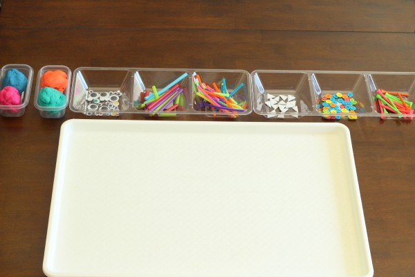 Make a monster assembly line. A fun fine motor activity for kids.