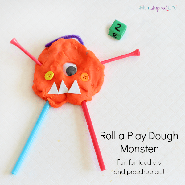 Fine motor monster activity that teaches counting and number recognition to toddlers and preschoolers.