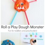 Roll a Play Dough Monster Numbers Activity