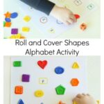 Roll and Cover the Shapes Alphabet Activity