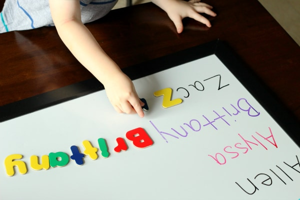 A fun alphabet activity for family theme lesson plans.