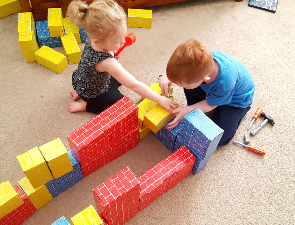Learn critical thinking and engineering skills with cardboard blocks!
