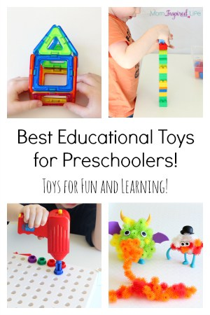 Best educational toys for preschoolers! A holiday gift guide for young kids! What to buy preschoolers for Christmas.