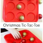 Christmas Tic Tac Toe Game with Ornaments