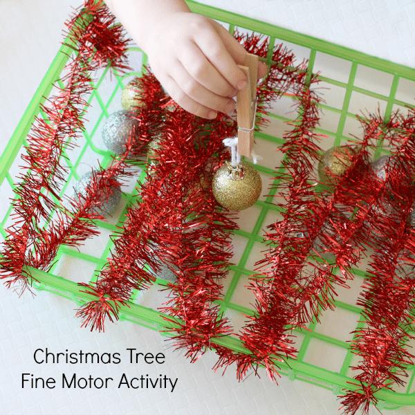 Christmas fine motor activity.