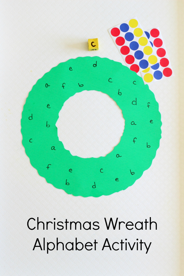Christmas wreath alphabet activity for Christmas crafts for pre schoolers