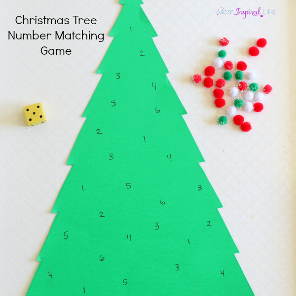 Christmas tree number activity