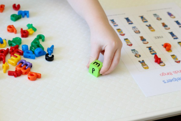 Neighborhood theme activity for learning letters.
