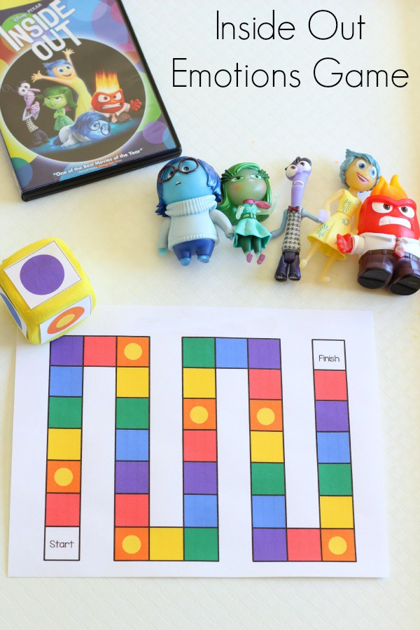 Inside Out emotions board game. Teaching emotions to toddlers and preschoolers.