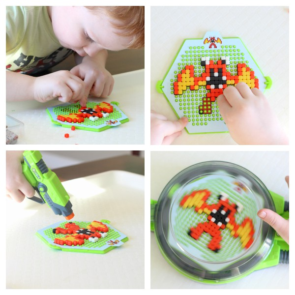 Using Qixels to develop fine motor skills! A fun fine motor craft activity that boys will love!