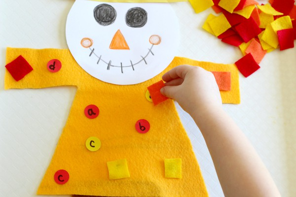 Scarecrow game for learning letters.
