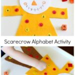 Roll and Cover Scarecrow Alphabet Activity
