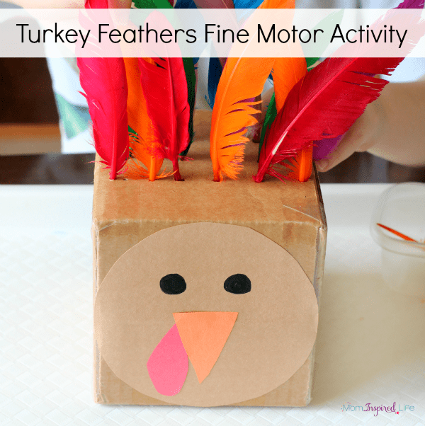 Turkey fine motor activity for color learning, counting and patterning.