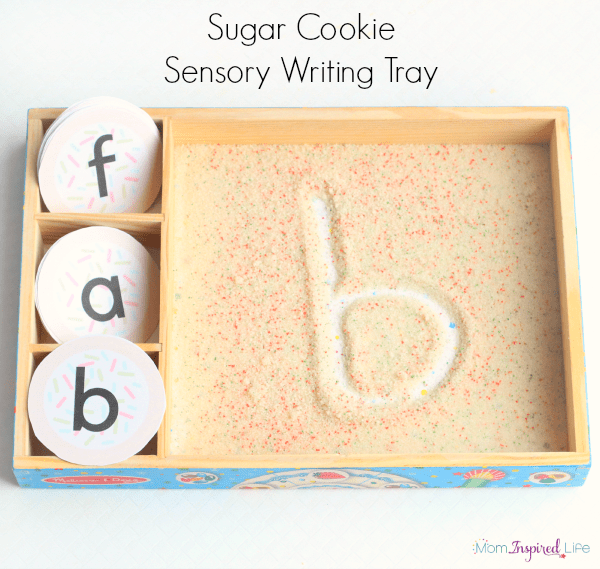 Sensory writing tray that is perfect for Christmas or Valentine's Day! Write letters, numbers, sight words and more!