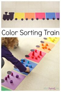 Train Color Sorting Activity