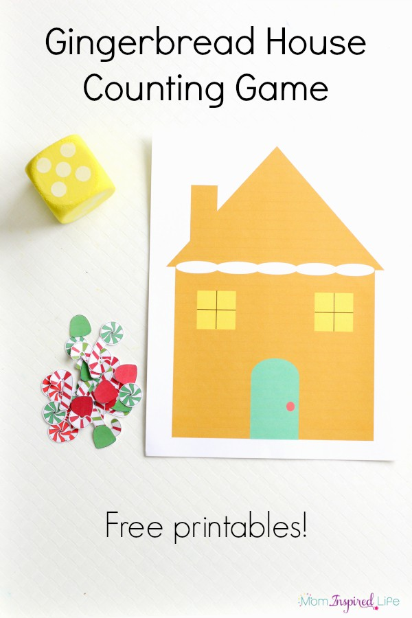Gingerbread house counting game for toddlers and preschoolers. A fun Christmas counting game!