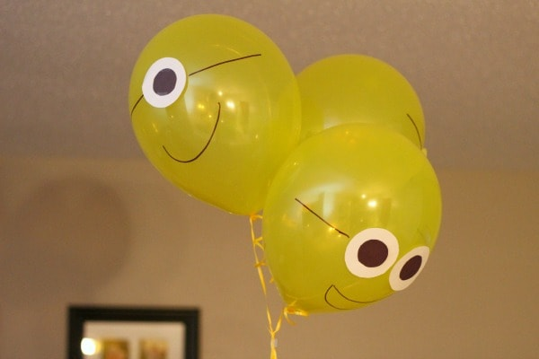 Minions balloons for a Minions party.