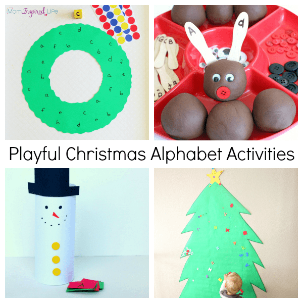 Christmas alphabet activities that are fun and playful! Christmas learning activities for kids!