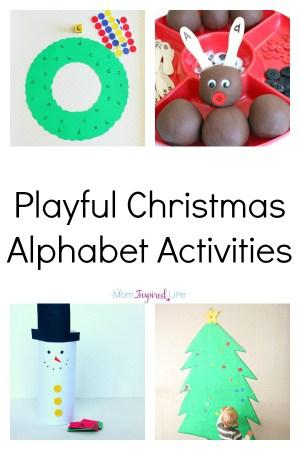 Christmas Alphabet.Playful Christmas Alphabet Activities