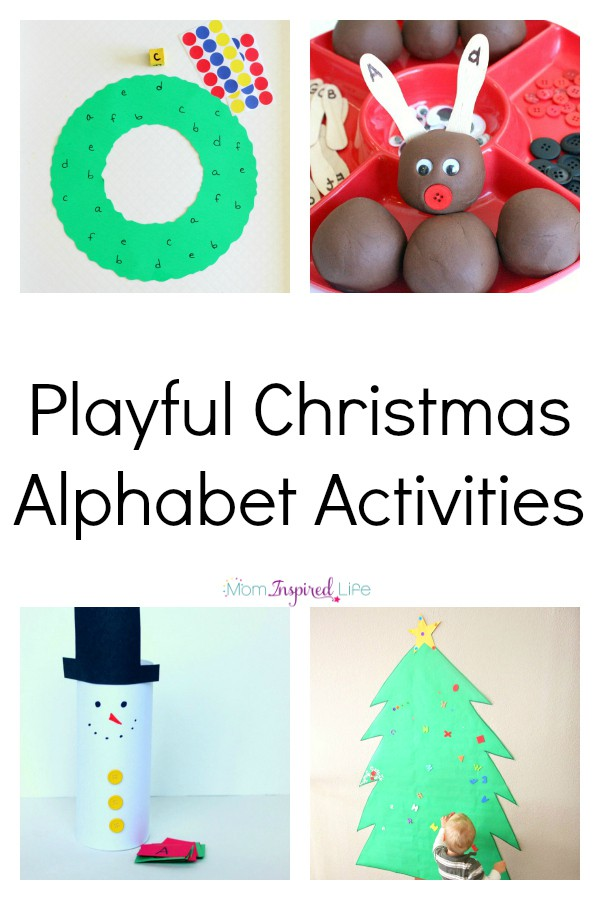 Christmas alphabet activities that are fun and hands-on. Learning letters at Christmas has never been more fun! Christmas learning activities for kids.