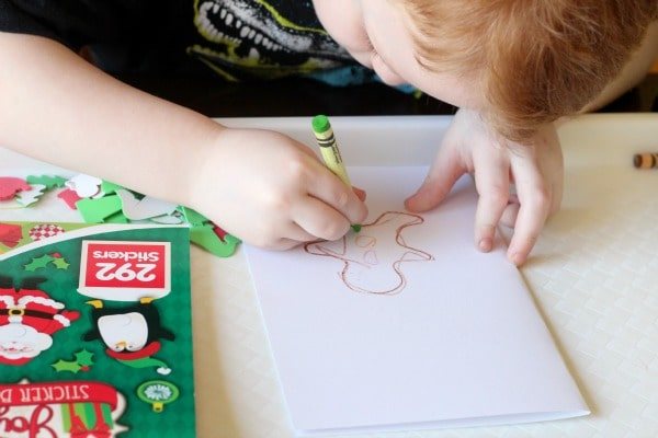 A preschool Christmas writing activity. Early writing activity for young kids.