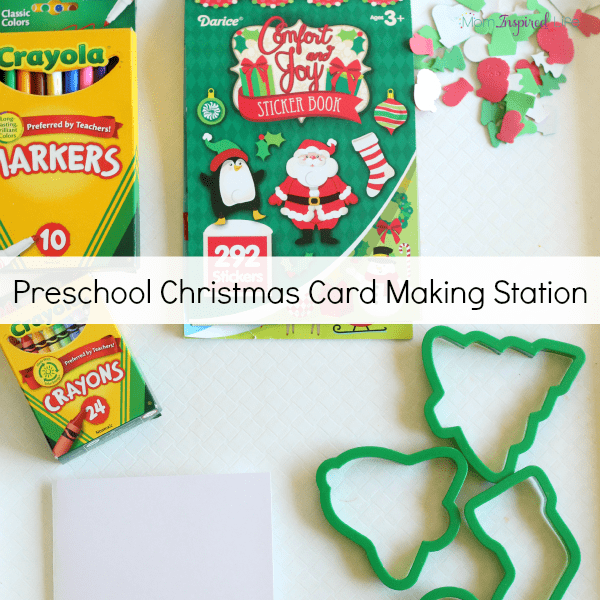 Preschool Christmas writing activity. A Christmas writing center.