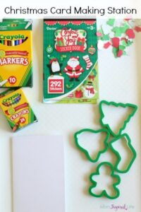Preschool Christmas Card Making Station