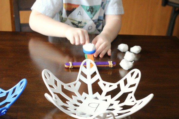 Learn letters while enjoying this winter STEM activity.