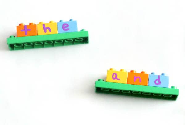 Hands-on sight word activity that uses LEGO as a manipulative. Build and learn sight words!