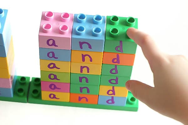 Make sight word towers for fun and learning!