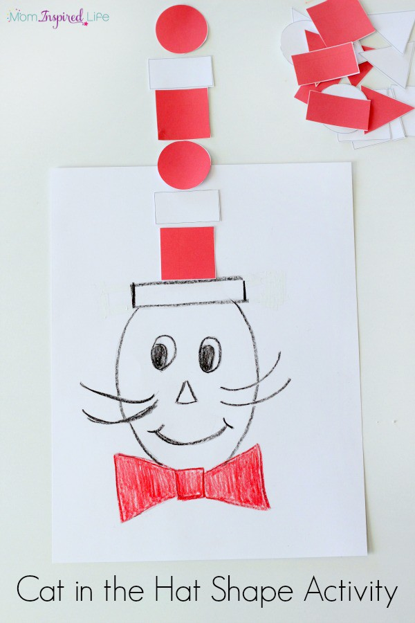 The Cat in the Hat Shape and Patterning Activity. A fun way to practice math skills!