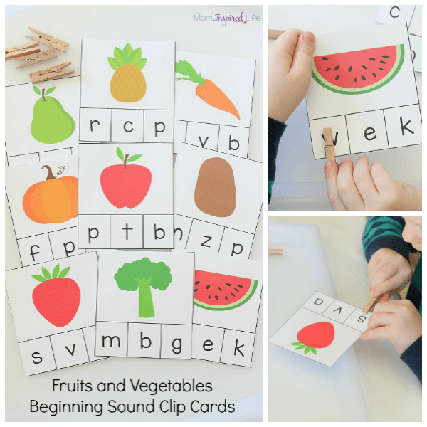 Teaching kids to read with a beginning sounds activity.