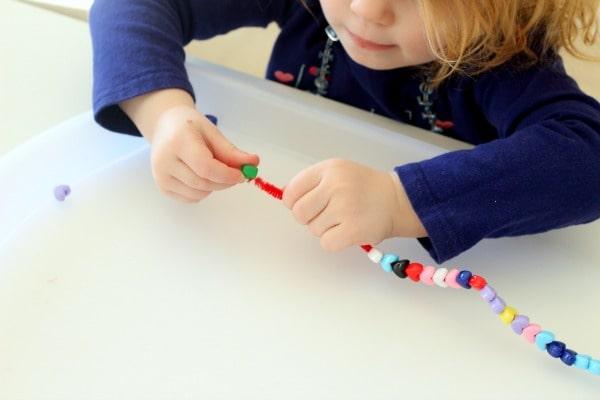 Heart fine motor activity for preschoolers.