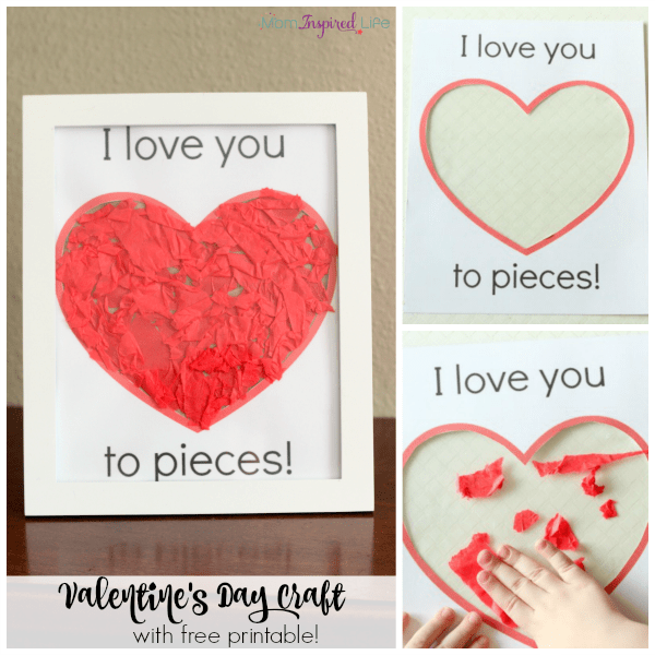 i love you to pieces craft i you to pieces s day craft activity 7793