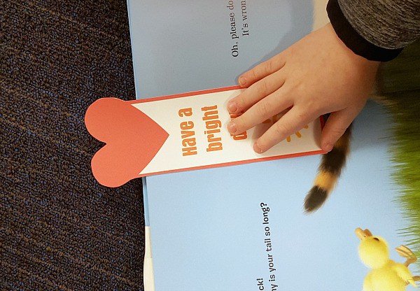 Random act of kindness at the library. A fun kindness activity for kids.