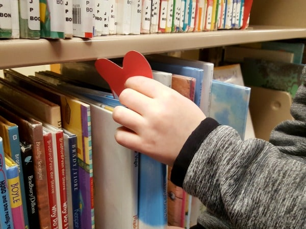 A random act of kindness for kids to do at the library.