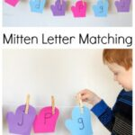 Mitten Letter Matching on a Clothesline